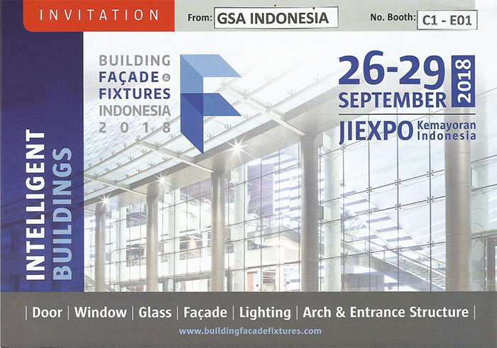 Invitation From GSA Indonesia For Building Facade Fixtures Indonesia 2018